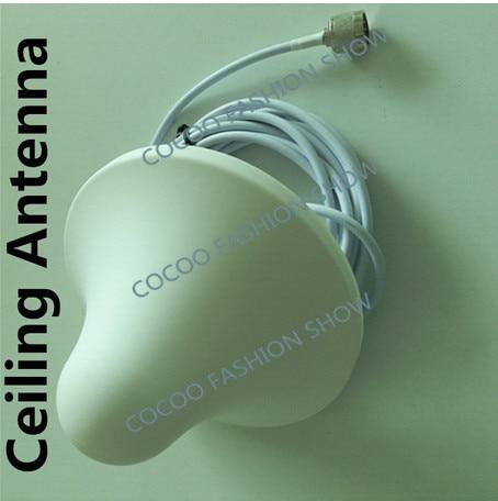 850 ~ 2500 MHz Antena de Teto Interior com Conector Macho N + 5 m cabo para gsm 3G cdma dcs Signal Booster Repetidor Grátis grátis