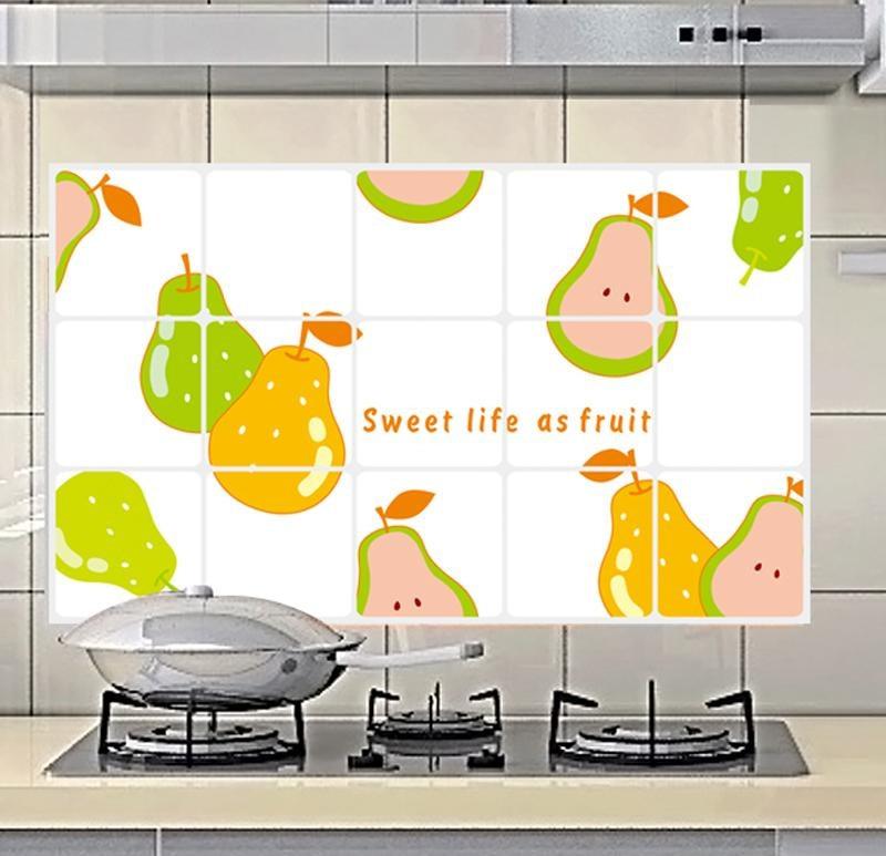 Cute Kitchen Wall Decor: Kitchen Waterproof Oil Decorative Stickers Home Decor