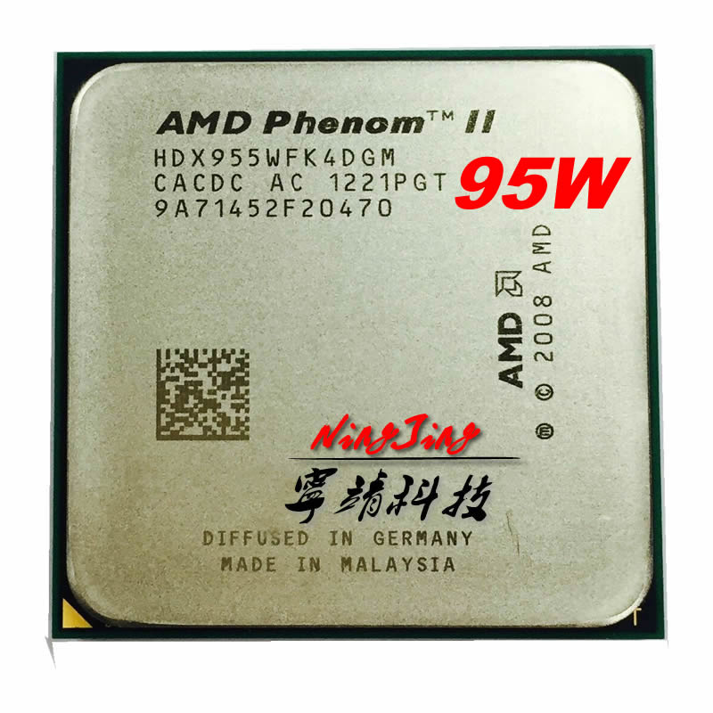 AMD CPU AM3 Quad-Core Phenom-Ii X4 955 Ghz 95w Processor-Hdx955wfk4dgm/hdx955wfk4dgi-Socket title=