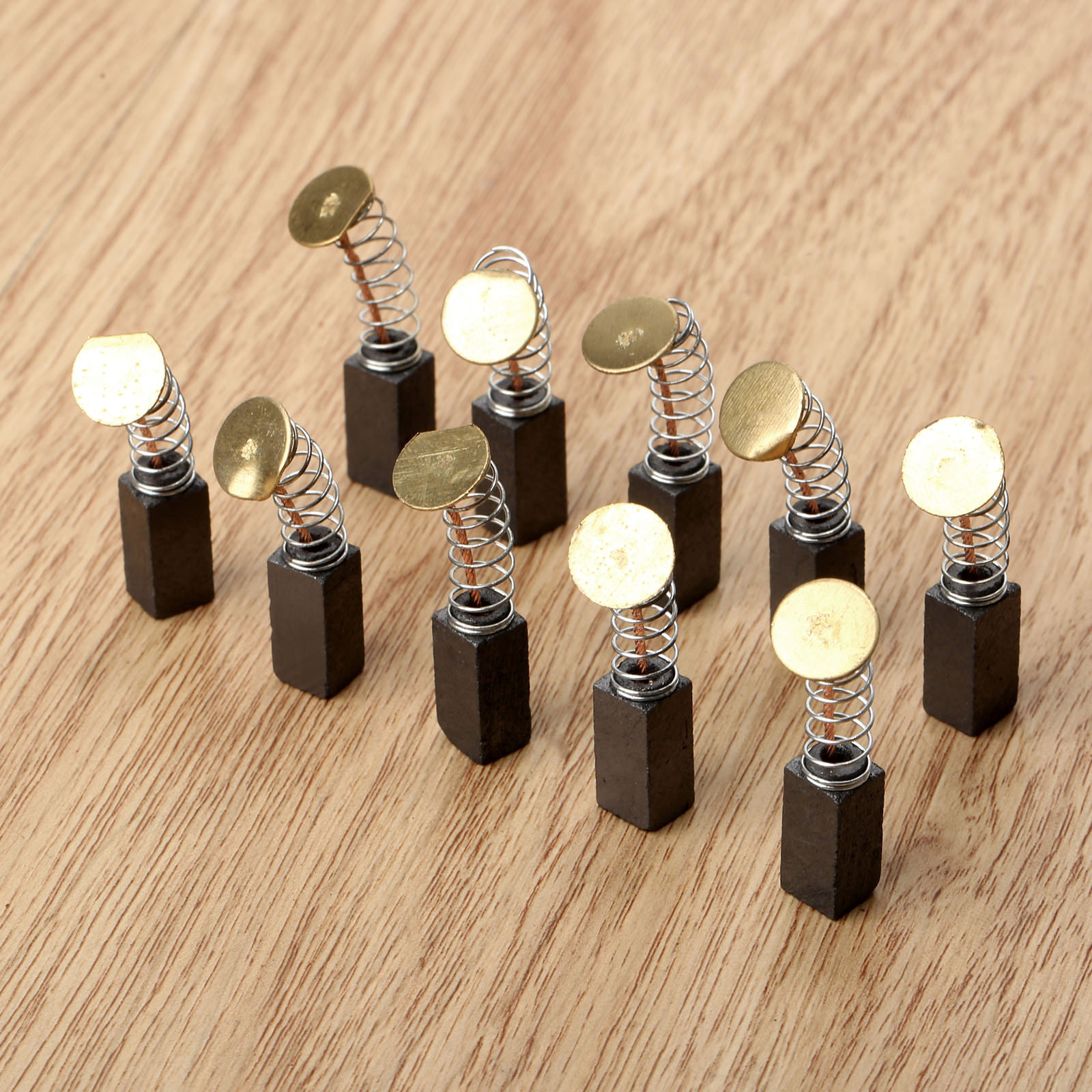 10Pcs/5Pairs Mini Drill Electric Grinder Replacement Carbon Brushes Spare Parts for Electric Motors Dremel Rotary Tool 6x6x6.5mm dmiotech 20 pcs electric drill motor carbon brushes 10mm 11mm 13mm 17mm 6mm 7 5mm 7mm 8mm 9mm