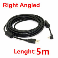 Free Shipping Tracking Number USB 2 0 Male To Mini USB Right Angled 90 Degree Cable