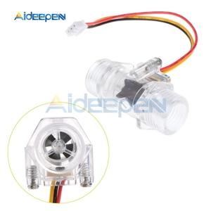"""Image 5 - Interruptor de Sensor de flujo de agua G1/2 """"medidor de flujo de líquido Control de agua caja transparente DC 5 15V uso para calentadores de agua, etc"""