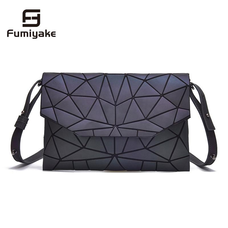 Flap Handbag Clutch-Messenger-Bags Shoulder-Bags Geometric Girls Luminous-Designer Casual