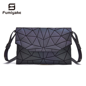 Image 1 - 2020 Fashion Geometric Casual Clutch Messenger Bags Luminous Designer Women Evening Bag Shoulder Bags Girls Flap Handbag