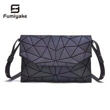 Bolso de mano informal con diseño geométrico para mujer, bandolera de diseñador luminoso, bolso de hombro con solapa, 2020