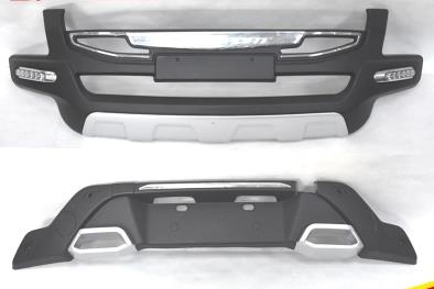 ABS Front+Rear Bumpers Car Accessories Car Bumper Protector Guard Skid Plate fit for 2016-2017 Ford Ecosport Car styling set j40 black steel different trail front bumper w winch plate