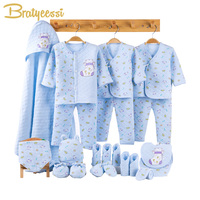 New Winter Baby Girl Clothes Newborn Thick Cotton Baby Set Infant Clothing New Born Gift Set Baby Boy Clothes 3 Colors