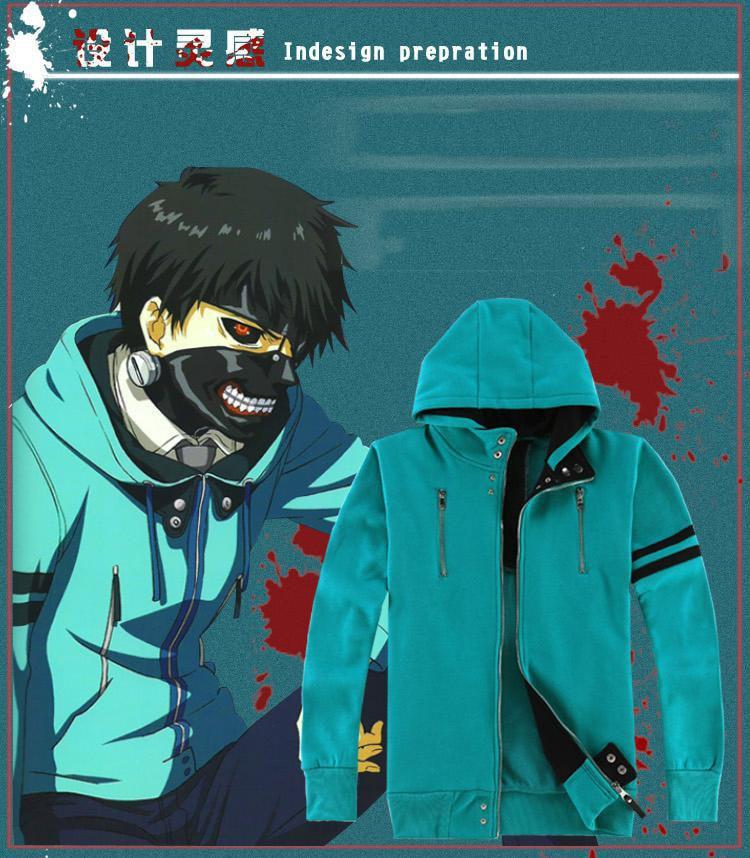 Tokyo Ghouls hoody coat معطف Tokyo Ghoul Cosplay Kaneki Ken Cosplay ازياء تفاصيل مثالية هوديس البدلة 100 ٪ من القطن الكامل
