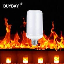 Buybay E27 E26 2835 светодио дный эффект пламени огня лампочки 7 Вт творческие огни мерцающего эмуляции Винтаж Атмосфера декоративные лампы