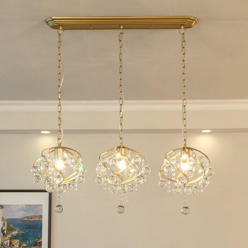 American Minimalist Crystal Hanglamp Pendant Lights Lamps Led Lights For Home Nordic Pendant Light Fixtures Loft Style Hanging
