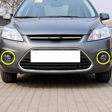 1 пара ABS Chrome передние противотуманные свет лампы Крышка Накладка для Ford Focus 2 Mk2 2009-2012