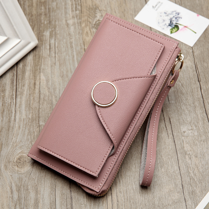 longmiao PU Leather Women Wallet Wristlet Long Zipper Female Purse Luxury Brand Coin Purse Clutch Designer Card Slot Money Bag холодильник don r 295 m