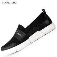 Men's casual shoes platform fashion 2018 new autumn breathable mesh shoes men black and white light loafers man shoe big size 12