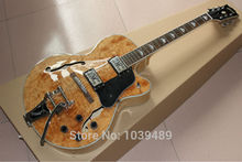 Wholesale+Free Shipping+New built + natual color AAAA burl flame on boyd top Electric Guitar, do OEM service