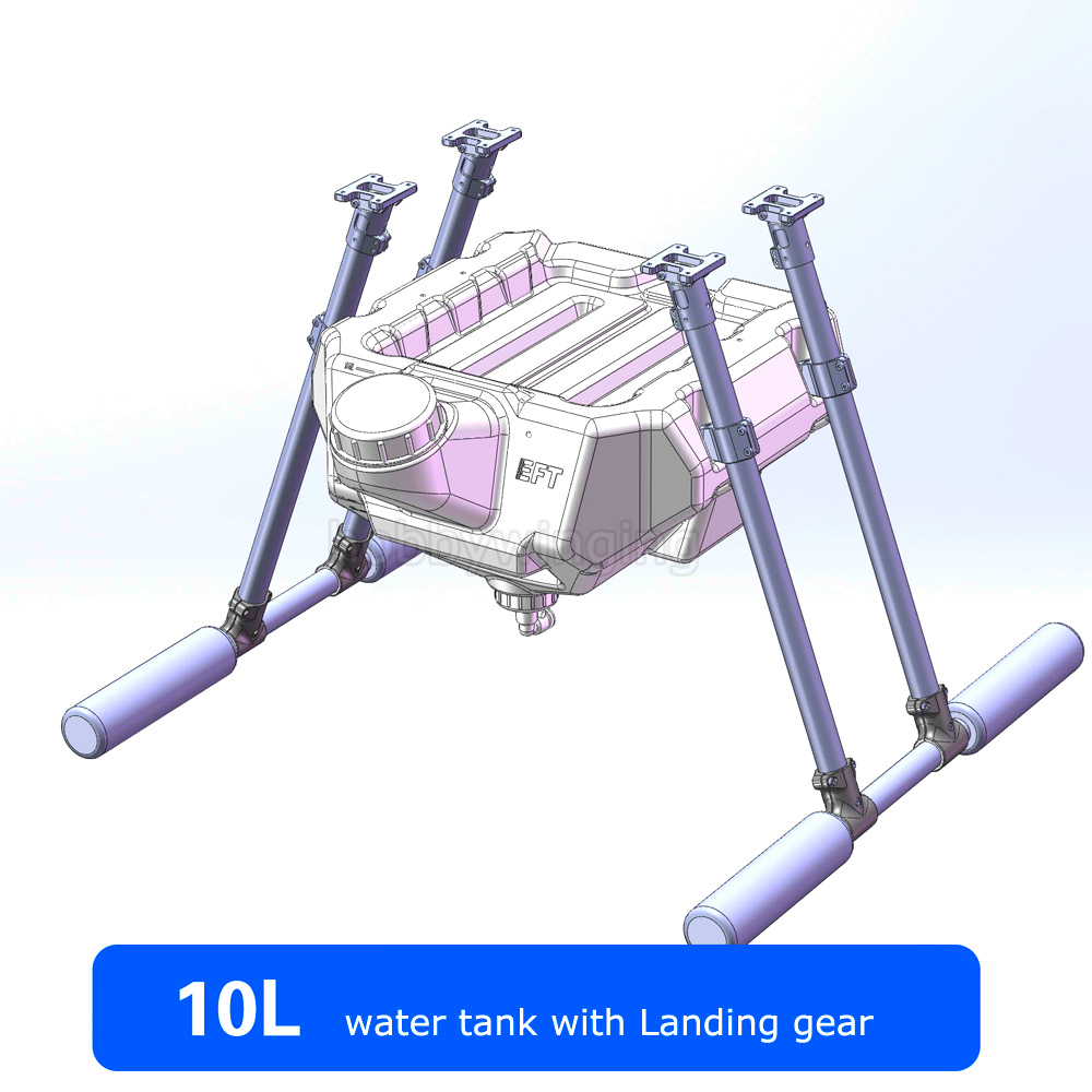 Spray pump Agriculture drone 10KG Water Tank+ Carbon Fiber Landing gear Agricultural Quadcopter Hexacopter UAV