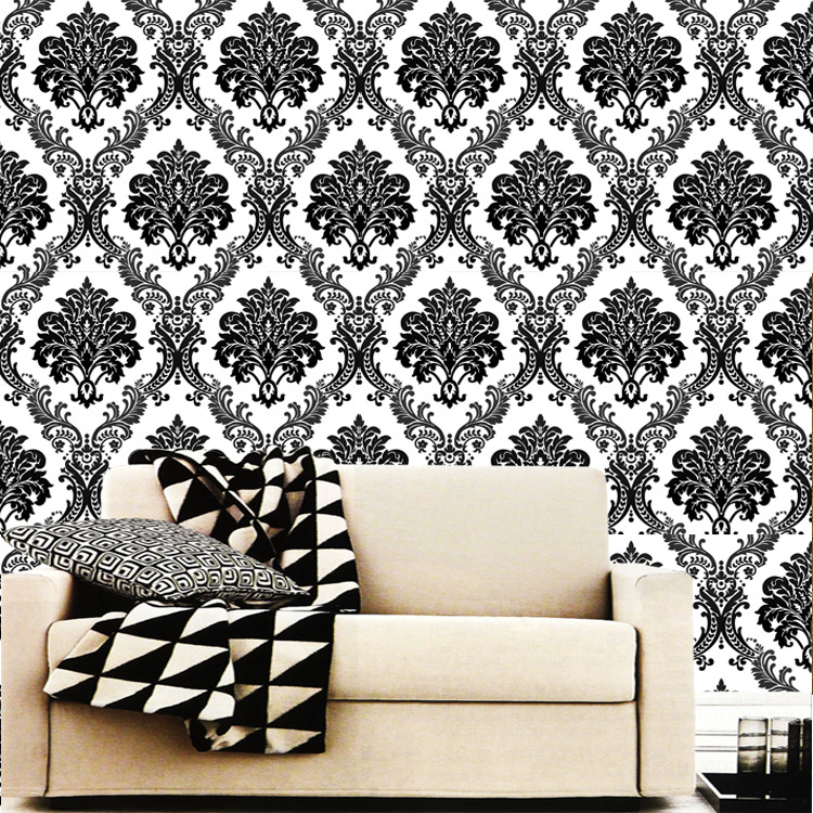 3D Damascus Luxury Background Wallpapers European 3D Embossed Wall Paper Living room Bedroom Floral Striped Roll Non-woven Top цена 2017