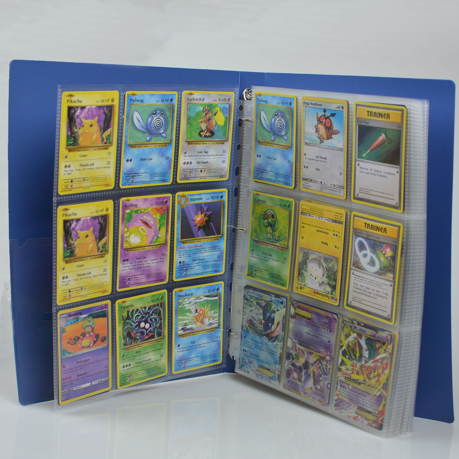 315 pockets can hold 630pcs game cards board game album playing cards holder Albums For Pokemon CCG MTG Yugioh Board Game Cards цена