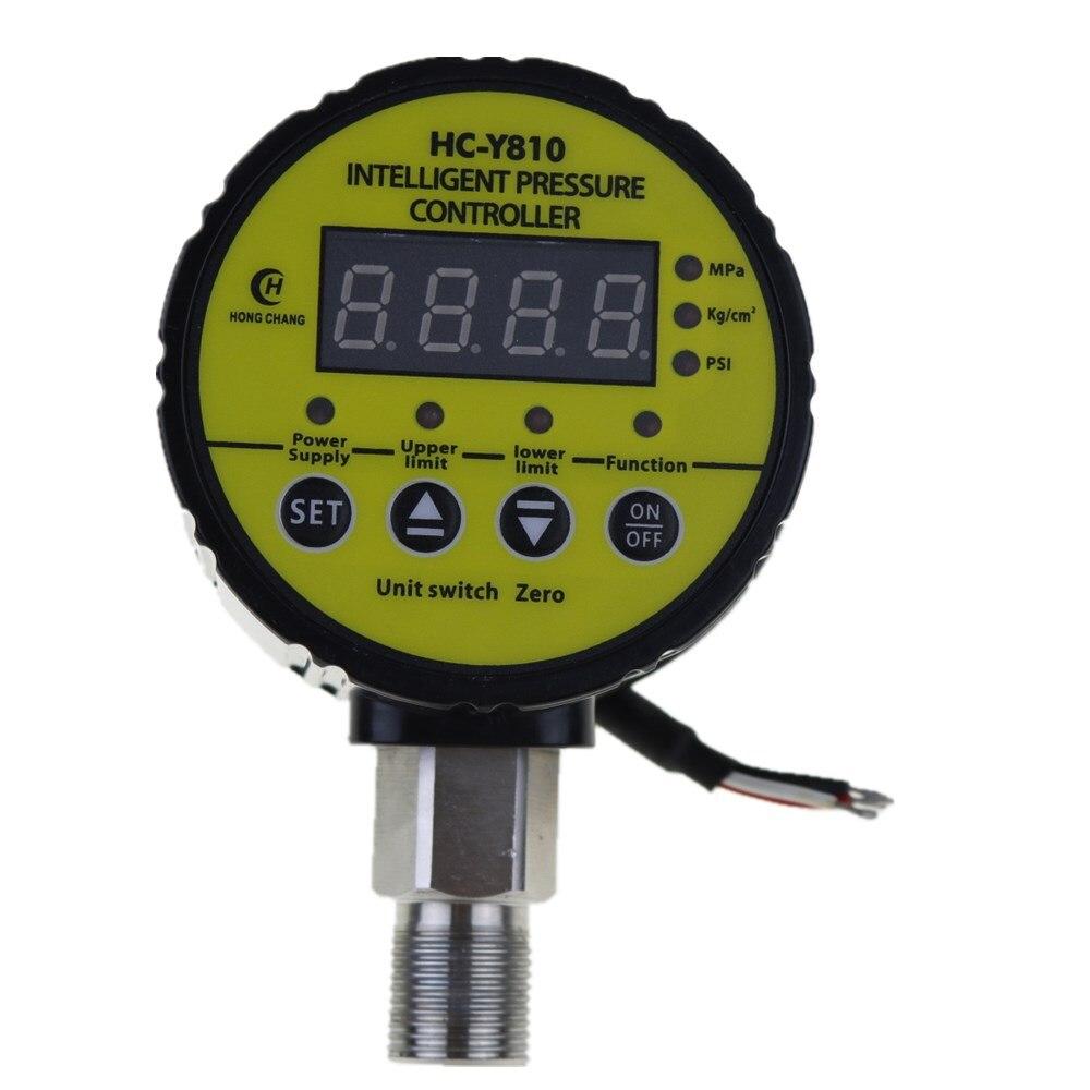 AC 220V M20 x 1.5 Air Compressor Pressure Switch Digital Pressure Gauge Relay output ac220v 0 10mpa air compressor pressure switch digital pressure gauge relay output