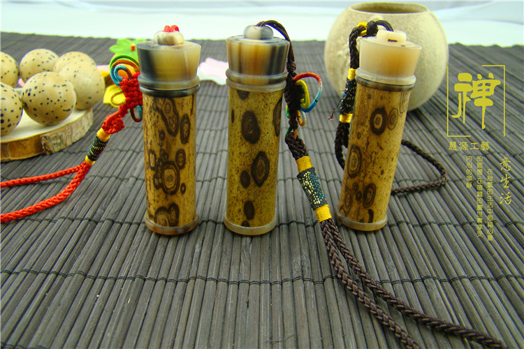 Merlot bamboo small sweet drum aloes powder tank snuff bottle toothpicks extinguishers inlaid flower horn sweet bucket