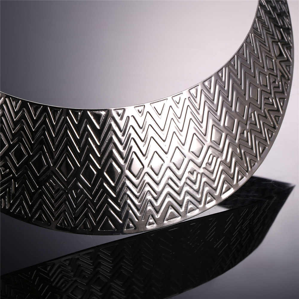 U7 Stainless Steel Collier Women Statement Necklace Collar Jewelry  Gold Color African Chunky Choker Necklace Wholesale N555