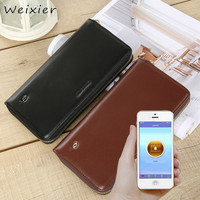 WEIXIER 2019 New genuine leather smart wallet men smart wallet monitoring GPS money clip USB charging anti theft QW 06