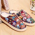 Anime LOL Warm Soft Shoes Plush Antiskid Home Indoor Slippers
