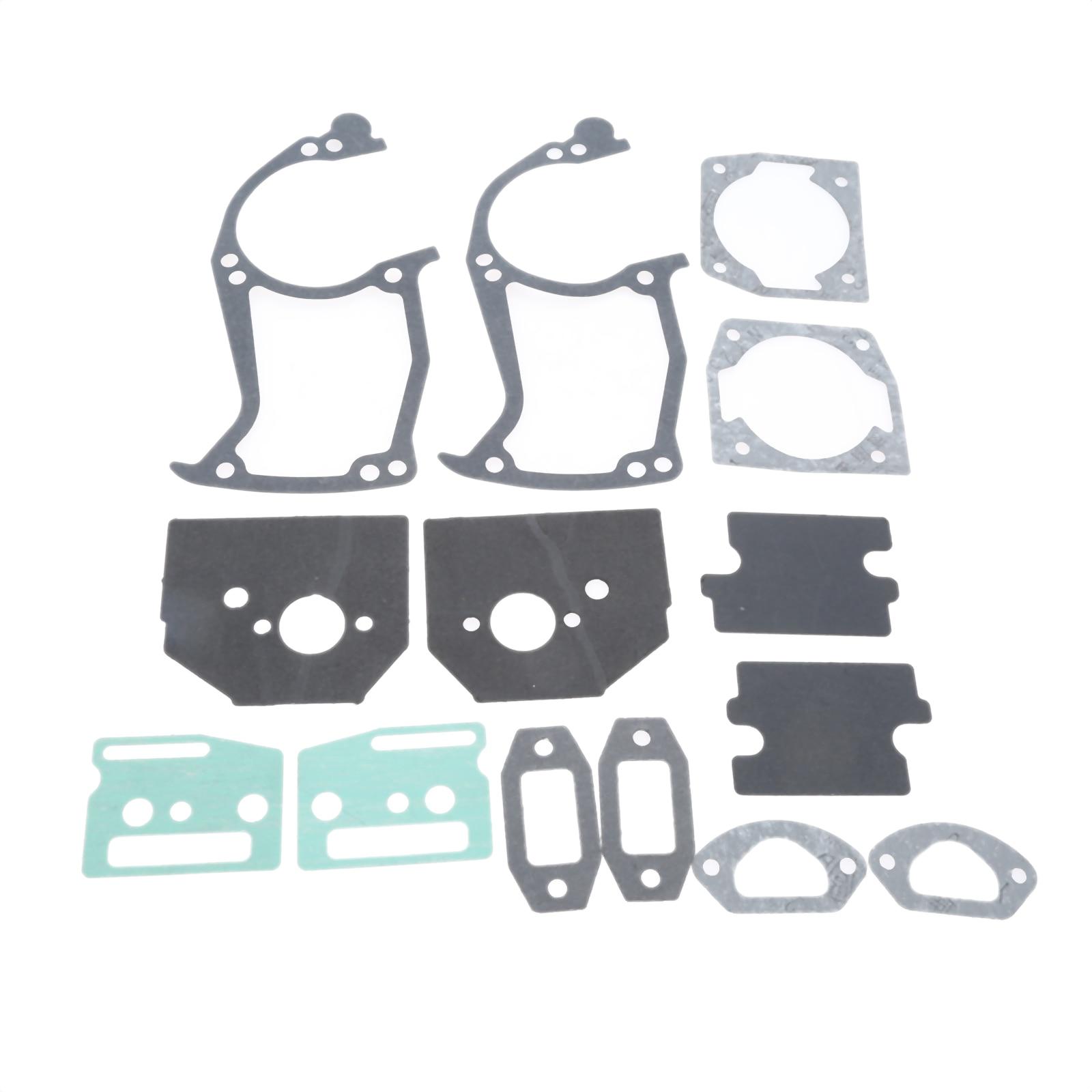 DRELD 2 Sets 45cc 52cc 58cc Chainsaw Paper Gaskets Full Set Fit For 45CC 52CC 58CC Chainsaw Garden Tool Parts