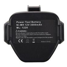 CES NOUVEAU 12 VOLT Ni-MH Batterie Pour MAKITA 3.0 Ah 1233 1234 Noir et Gris