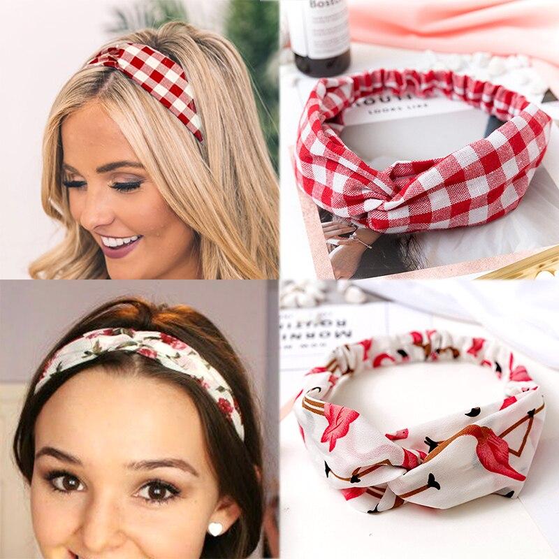 2019 NEW Summer Chiffon Headband Women Hair Accessories Turban Twist Cross Hairband Headwrap Girls Flower Striped Knot Hair Band wallet