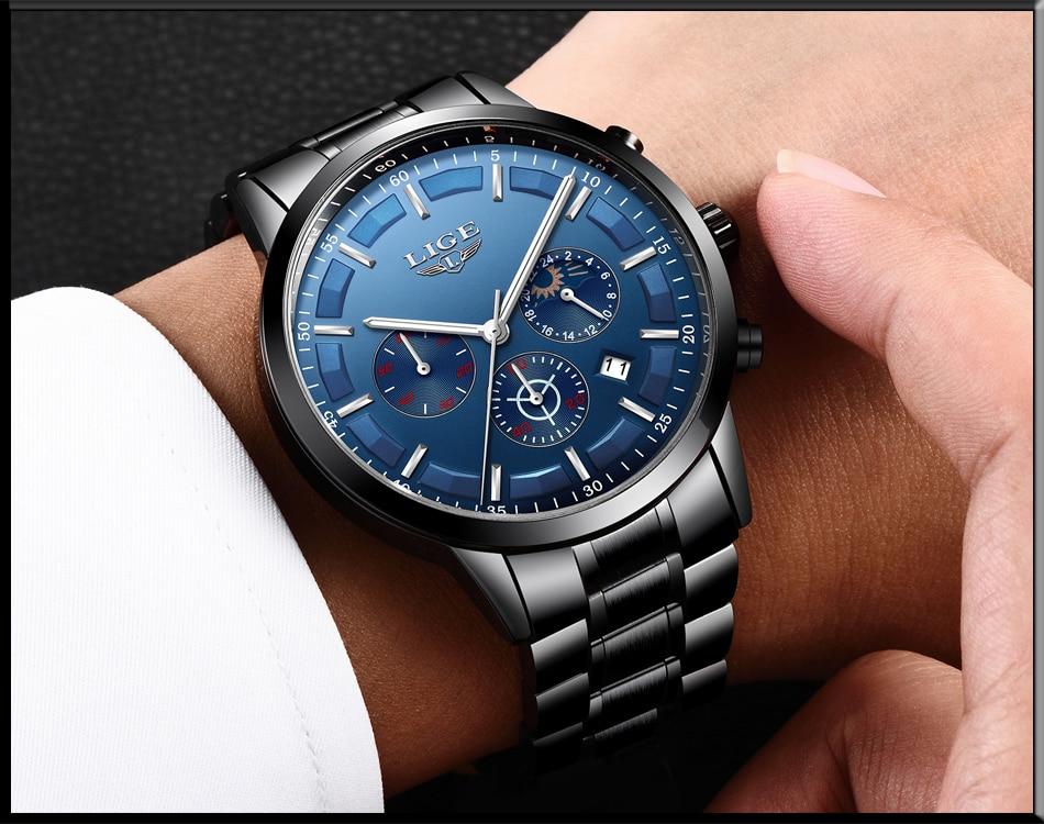 HTB17vsGhljTBKNjSZFuq6z0HFXaI Relojes Watch Men LIGE Fashion Sport Quartz Clock Mens Watches Top Brand Luxury Business Waterproof Watch Relogio Masculino