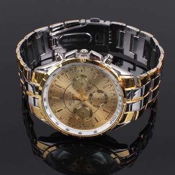 Fashion Quartz watches Men's Business Watch Three Colors Luxury watches Men full Steel watch Male relogio masculino clock