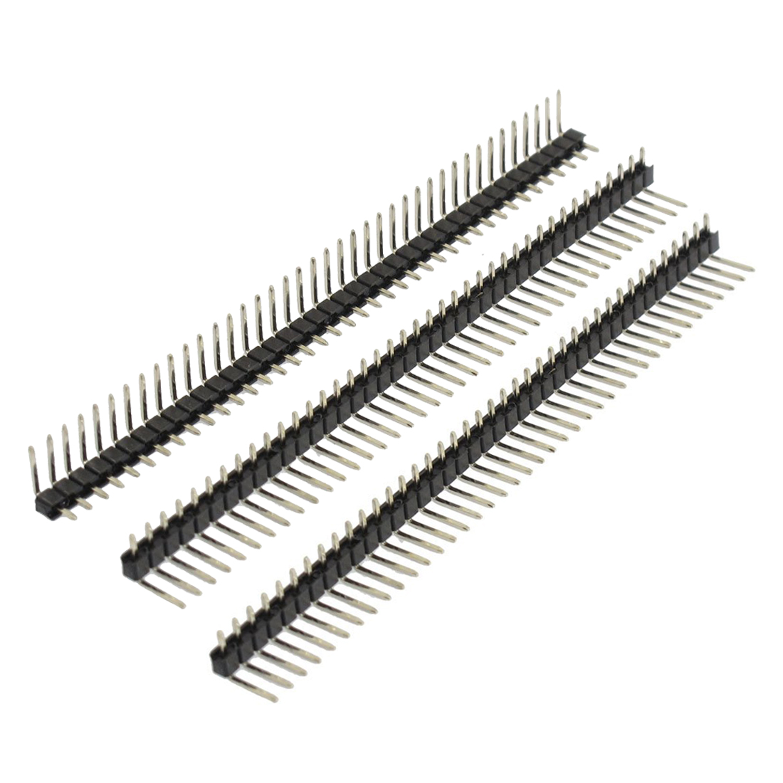 3 Pcs 40 Pins 2.54mm Pitch Right Angle PCB Board Pin Headers