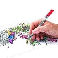 STAEDTLER 6 Colors 0 3mm Fluorescent Color Gel Pen Fine Line Drawing Caneta For Cartoon Design