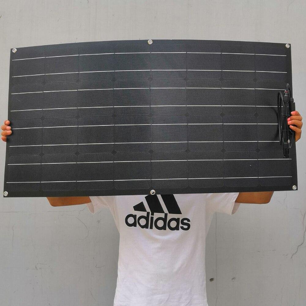 Solar Panel 100W Flexible ETFE Coating 18V Mono crystalline Solar Cell 100 Watt For 12V Battery
