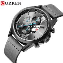 CURREN Sports Leather Watch Chronograph Brand Luxury Watches Quartz Wristwatch Business Calendar Clock