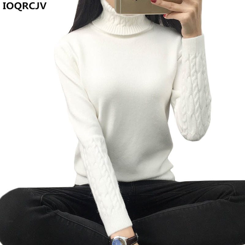 Women Turtleneck Winter Sweater Women 2018 New Long Sleeve Elasticity Knitted Women Sweaters Pullovers Female Casual Tops K862