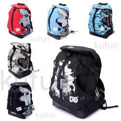 Встроенный рюкзак для коньков катание сумка спортивные сумки для Скейтер скейт Пеший Туризм взрослые рюкзак мешок