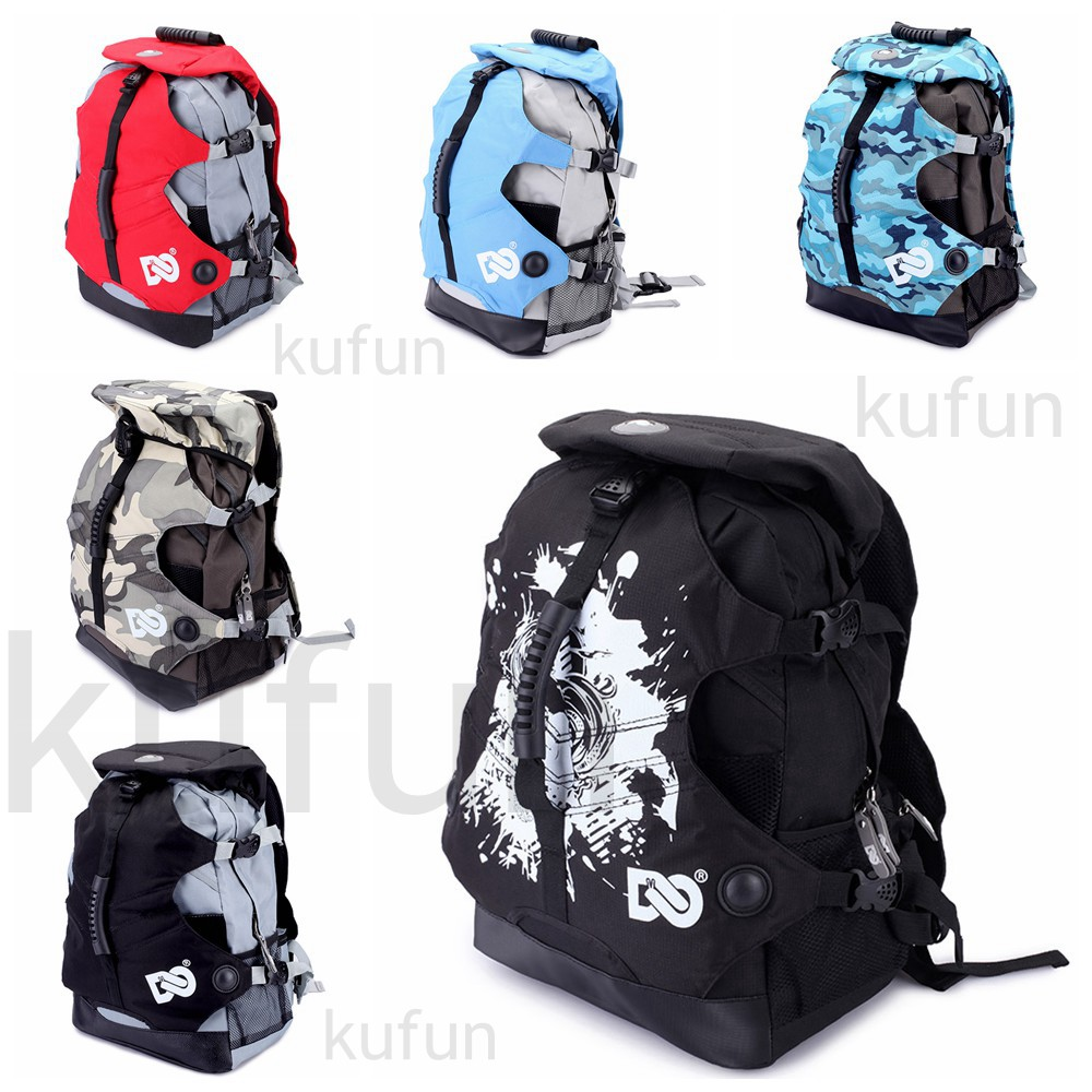Inline Skates Backpack Skating Bag Sports Bags For Skating Roller Skate Hiking Adult Knapsack Shoulder Bag
