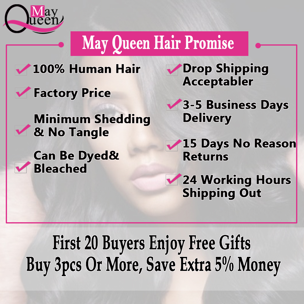 May Queen Hair Brazilian Hair Weave Bundles Body Wave Ombre Hair Bundles Natural Black Color 1 Piece Deal Can Buy 3 or 4 Bundles