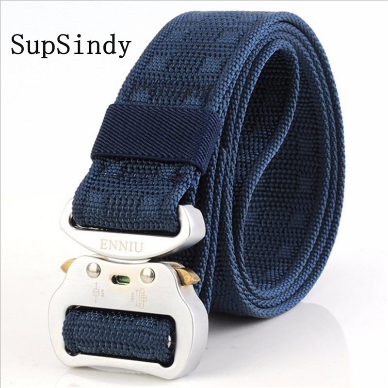 SupSindy men canvas   belt   aluminum insert buckle military nylon Training   belt   Army tactical   belts   for Men Best quality male strap
