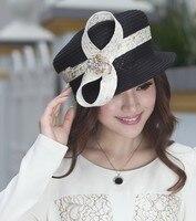 2017 Women Derby Church Wedding Beach Cocktail Evening Party Sun Hats Dress Wide Brim Vintage Cap Berets Fedora New Top