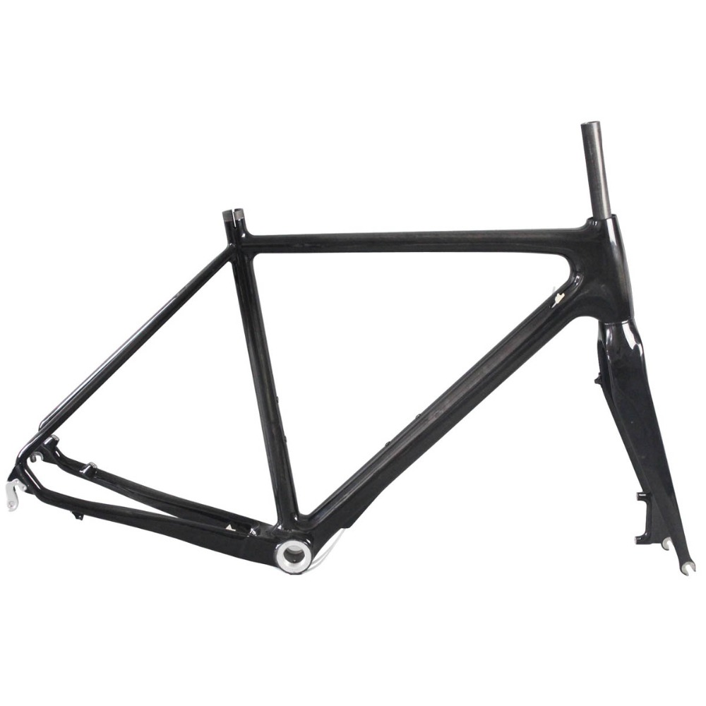 ICAN Carbon fiber cyclocross bike frame BMX bicycle frames DISC with wide wheels and tires 54/57cm BSA UD 700x38-40C AC129