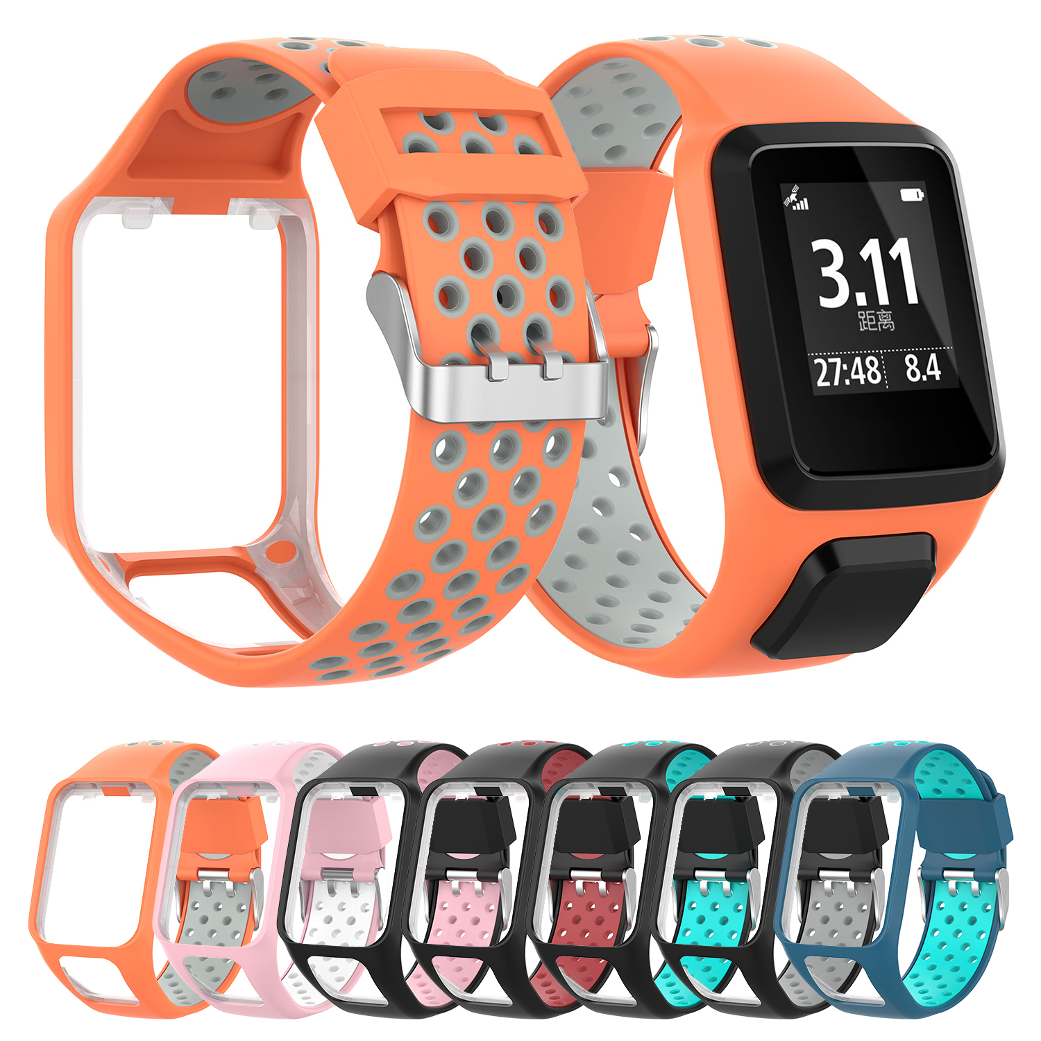 New Silicone Replacement Wrist Band Strap For TomTom Runner 2 3 Spark 3 GPS Watch Drop Shipping