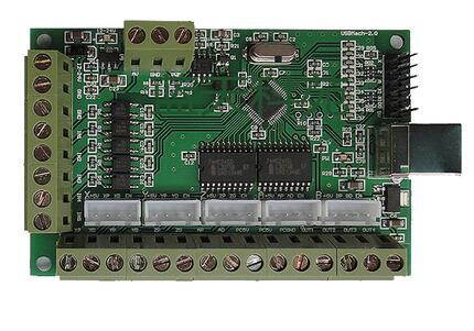 Placa de interface MACH3 100 KHZ, máquina de gravação a placa de interface USB, CNC cartão de controle de movimento, 5 eixos placa de interface.