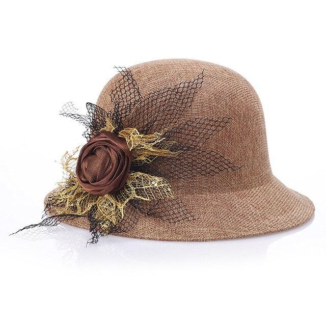 Летний новый дамы шляпа белье моды вс шляпа полноценно темперамент цветы шляпа Необходимо путешествия шляпа