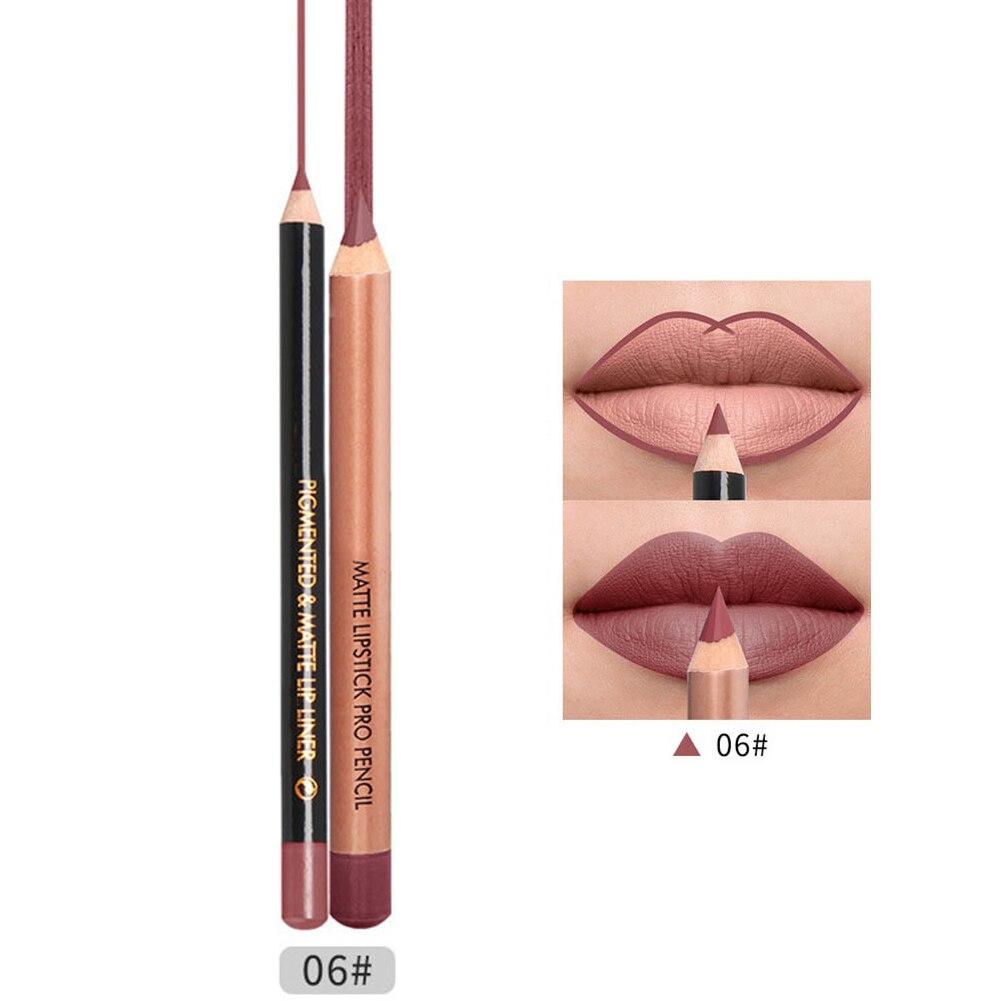Lipstick Lip Liner Pen Set Matte Waterproof Long Lasting Makeup Portable for Women 669