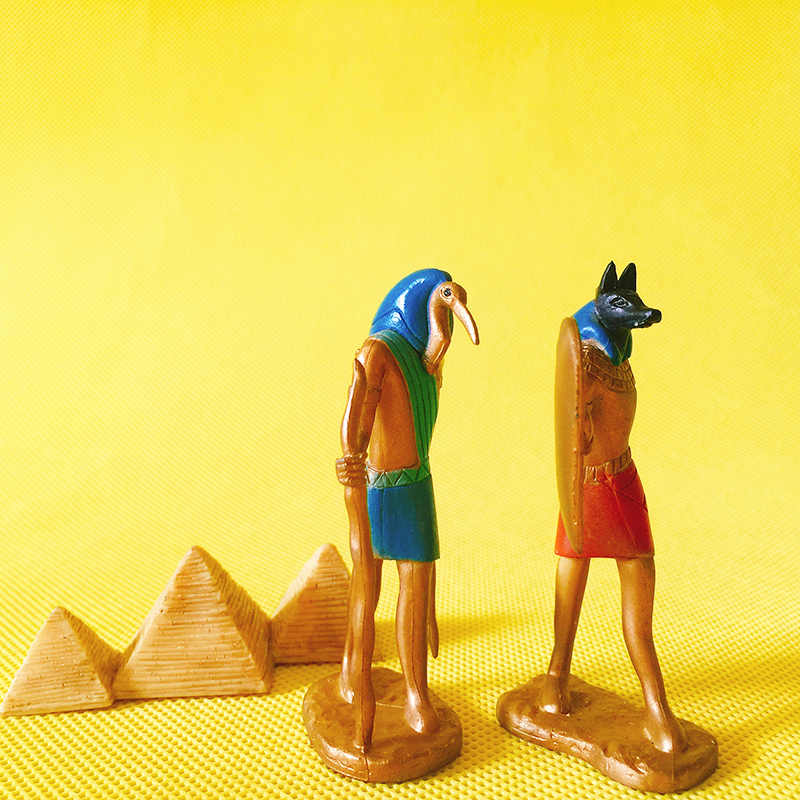 10 pcs Egypt Luna/pyramid/doll house//miniatures/cute/fairy garden gnome/moss terrarium decor/table decor/figurine/statue