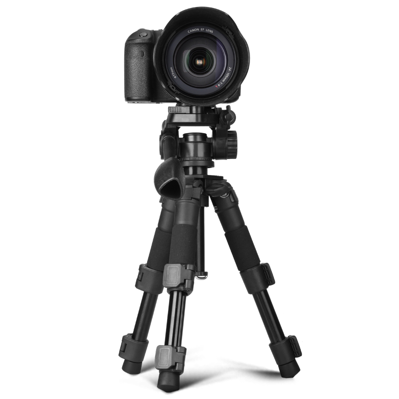 где купить Q166S Pro 3KG Load Flexible Mini Tripod 20'' ABS Aluminum DSLR Digital Camera Tripod Small Pocket Panorma Panhead Video Tripod дешево