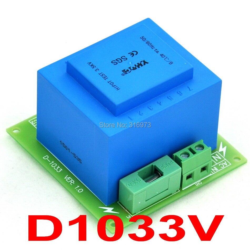 230VAC primaire, 2x 9VAC secondaire, Module de transformateur de puissance 20VA, D-1033/V, AC9V