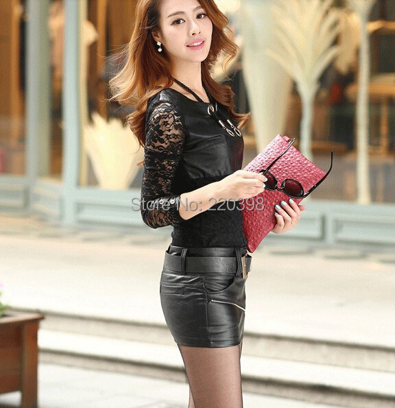 Aliexpress.com : Buy 2015 New Fashion Women PU Short Skirt leather ...